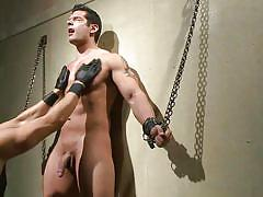 Gay beauty chained on the wall