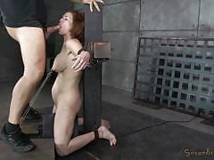 milf, bdsm, redhead, big boobs, tit torture, crucified, mouth fuck, clamps, mouth gag, sexually broken, veronica avluv, matt williams