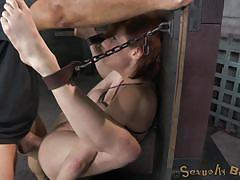milf, bondage, bdsm, big tits, squeezed tits, shackles, sexually broken, veronica avluv, matt williams