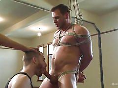 Tied hunk gets head like it or not