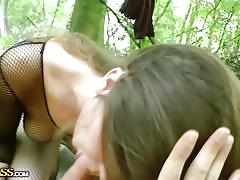 Going naughty in a a public park