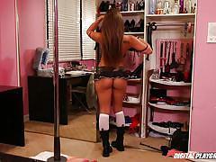 babe, party, round ass, striptease, blowjob, college, brunette, miniskirt, schoolgirls, digital playground, tyler nixon, dani daniels