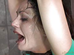 milf, bondage, bdsm, interracial, deepthroat, crying, brunette, mouth fuck, bbc, leather belts, sexually broken, matt williams, sarah shevon