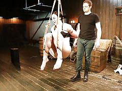milf, bondage, bdsm, hanging, brunette, tied up, barn, educational, kink university, kink, cannon x, tifereth