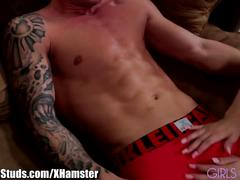 Girlsandstuds jock gets his cock blown