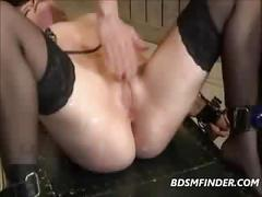 Black stockings milf bound whipped and made to orgasm