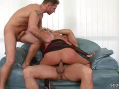 Hot milf in real anal and dp casting threesome
