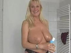 F60 big boobs oiled for money