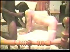 White wive fucks two black guys