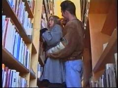 Russian girl fucked in a library