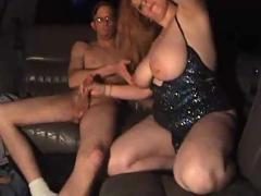 Hot limo fuck brunette gets cum on lips