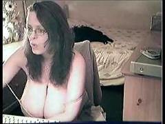 Nerdy webcam wife with gigantic juggs!!!!! - 2