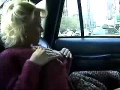 Girl masturbation in a new york cab