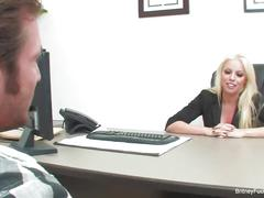 Lucky guy fucks boss britney amber during his job interview