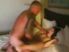 Wife asks him to fuck her best friend and he nails her hard (threesome)