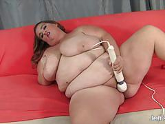 Big titted fatty kayla using her vibrator