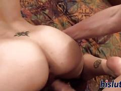 Skinny ally has her tight snatch pummeled