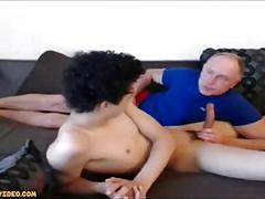 Amateur old and young blowjob