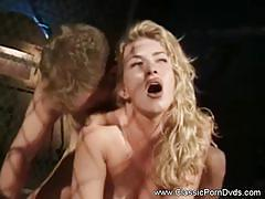 Vintage sex tape with kinky blonde