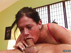 Cocksucking expert tory lane, almost chokes on a big dick
