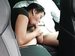The amazing blowjob in car by talented girl.