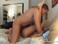 Amazing tits slut mom banged by hookup guy