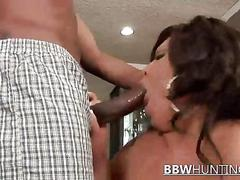 Bbw brunette fucking with dick