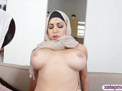 Arab women shared a hard man meat and fucked them both