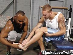 Black guy jizzes whitey