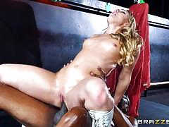 Aj applegate fucked in her asshole by a massive black dick