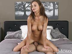 Milf slides cock into her pretty pussy
