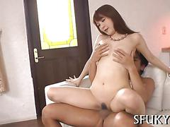 Japanese babe looks cute but fucks like a porn star