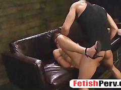 Mena li sucks cock upside down