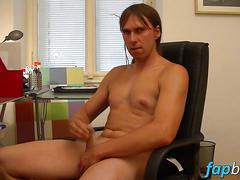 Naughty guy carlos loves drilling his ass with a dildo