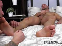 Sucking on his toes and the dudes are getting real nasty