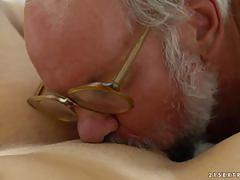 Older man prefer his women fresh and wet