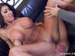 Sybil stallone and her friend riding on top