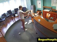 Squirting ginger patient railed by doctor