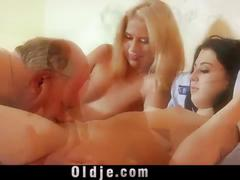 Slutty young maids old cock footjob and 69 wild fuck