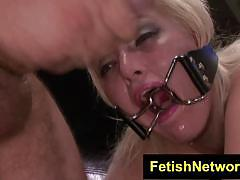 Bound jenna ivory shackled in bdsm