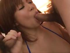 Amazing gangbang along needy milf, konatsu aozona