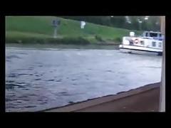 Public fuck am kanal