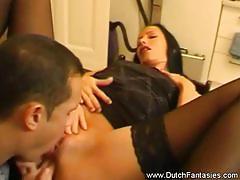European amateur gets her pussy slammed