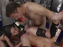 Pussy slamming hardcore fucking action with irina bruni and sophie