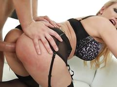 Hot busty german milf gets fucked hard by young russian stud
