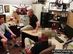 Straight ass innocent dude accepts cash to gets cock sucked and ass fucked