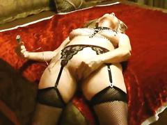 mature, milf, wife, blonde, blowjob, slut, stockings