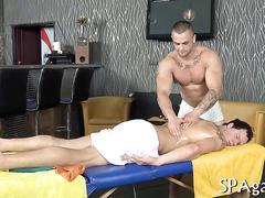 massage, bareback, muscle, anal, fucking, oil, spooning