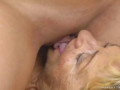 Older woman loves to finger and lick fresh pussy