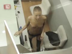 Spy a hot girl in her job!!